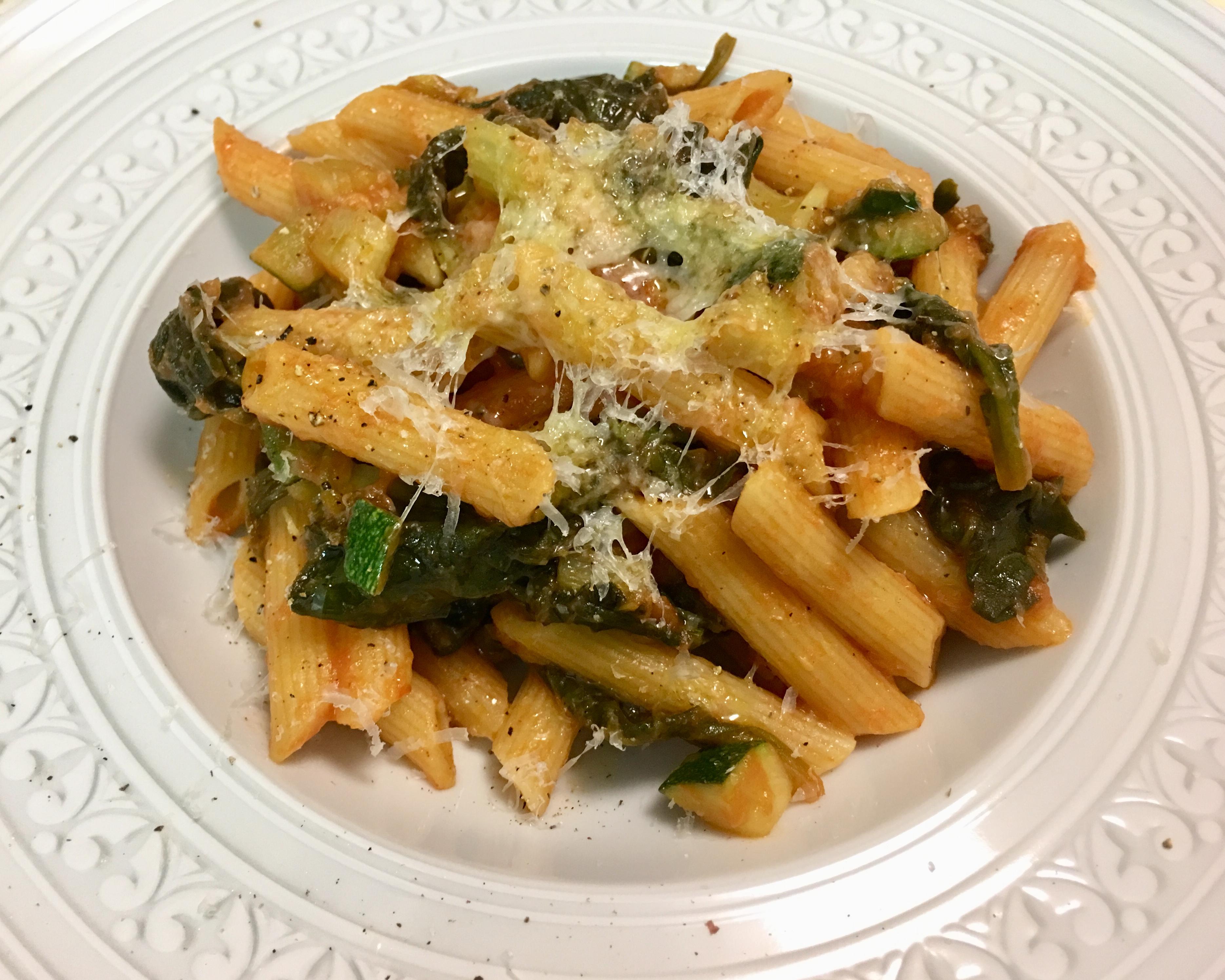 Pasta Con Verduras A La Italiana